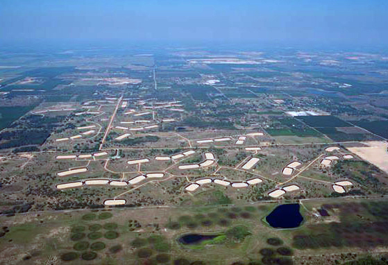 Aerial View of Rapid Infiltration Basin Site 6